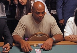 Charles Barkley attends the World Series of Poker event in Las Vegas